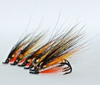 8 4 OR 8 10 /& 12 DOUBLE HOOKS. BOBBY CLARKSON SALMON FLIES TIED TO SIZE 6