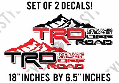 Toyota TRD Truck Mountain Off-Road Racing Tacoma Decal Custom Stickers IDENTICAL
