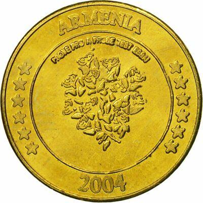 Medal Brass Ms 2004 63 Essai 10 Cents Armenia #434558 Analytical