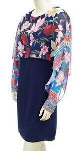prix de la rue dernière sélection de 2019 de gros Détails sur DESIGUAL robe voile Vest OLIVIA bleu marine femme 18SWVWBY 5000