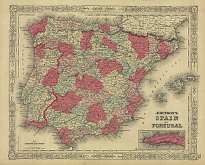1864-Johnson-039-s-Spain-amp-Portugal