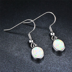 Fashion-Oval-Cut-White-Blue-Fire-Opal-Drop-Dangle-Earrings-Hook-Earrings-Jewelry