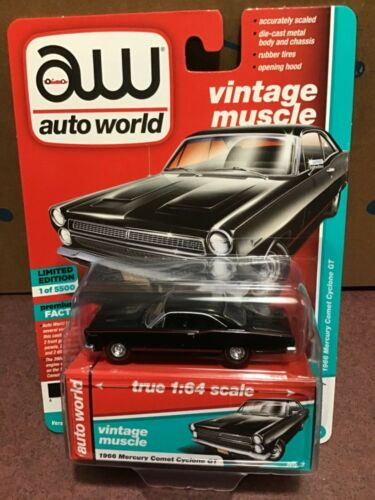 Auto World  Vintage Muscle 1966 Mercury Comet Cyclone GT onyx black