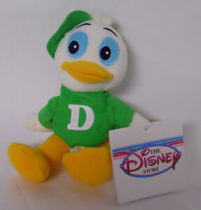 The Disney Store Dewey Duck in Green Mini Bean Bag-Beanie
