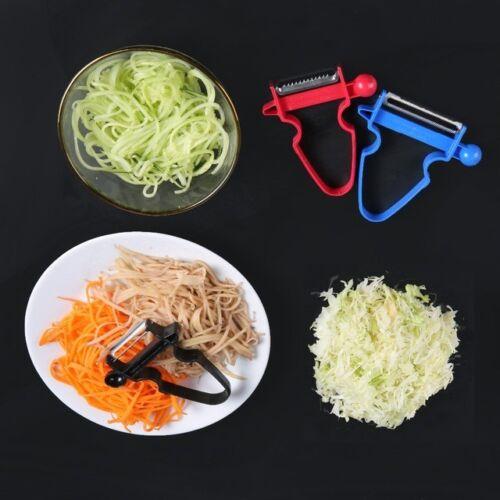 3Pcs Magic Trio Peelers Slicer Shredder Peeler Julienne Vegetable Fruit Cutter