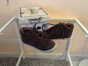 Détails sur Chaussures Baskets Creeks Cuir bébé Garcon 22