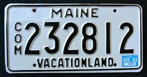MAINE-034-VACATIONLAND-COMMERCIAL-TRUCK-1983-ME-Vintage-Classic-License-Plate