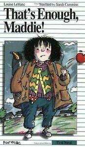 That-039-s-Enough-Maddie-Libro-en-Rustica-Louise-Leblanc