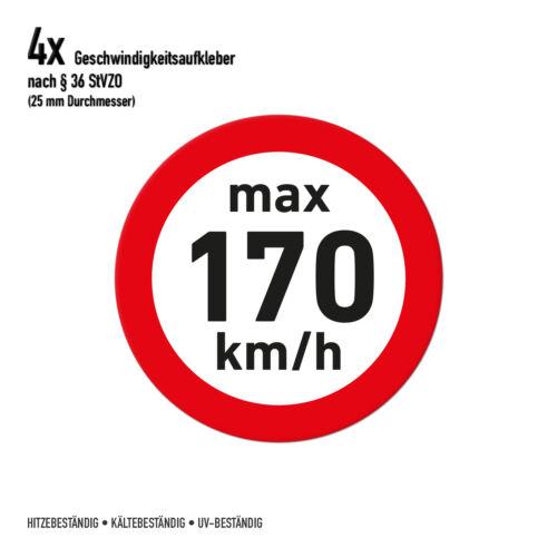 Speed Sticker Winter Tyres 170 KM//H 2,5cm Diameter