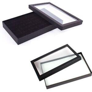 36-Schluessel-Schmuck-Kaestchen-Ring-Lagerung-Ohrringe-Display-Box-Schmuck-G9D2