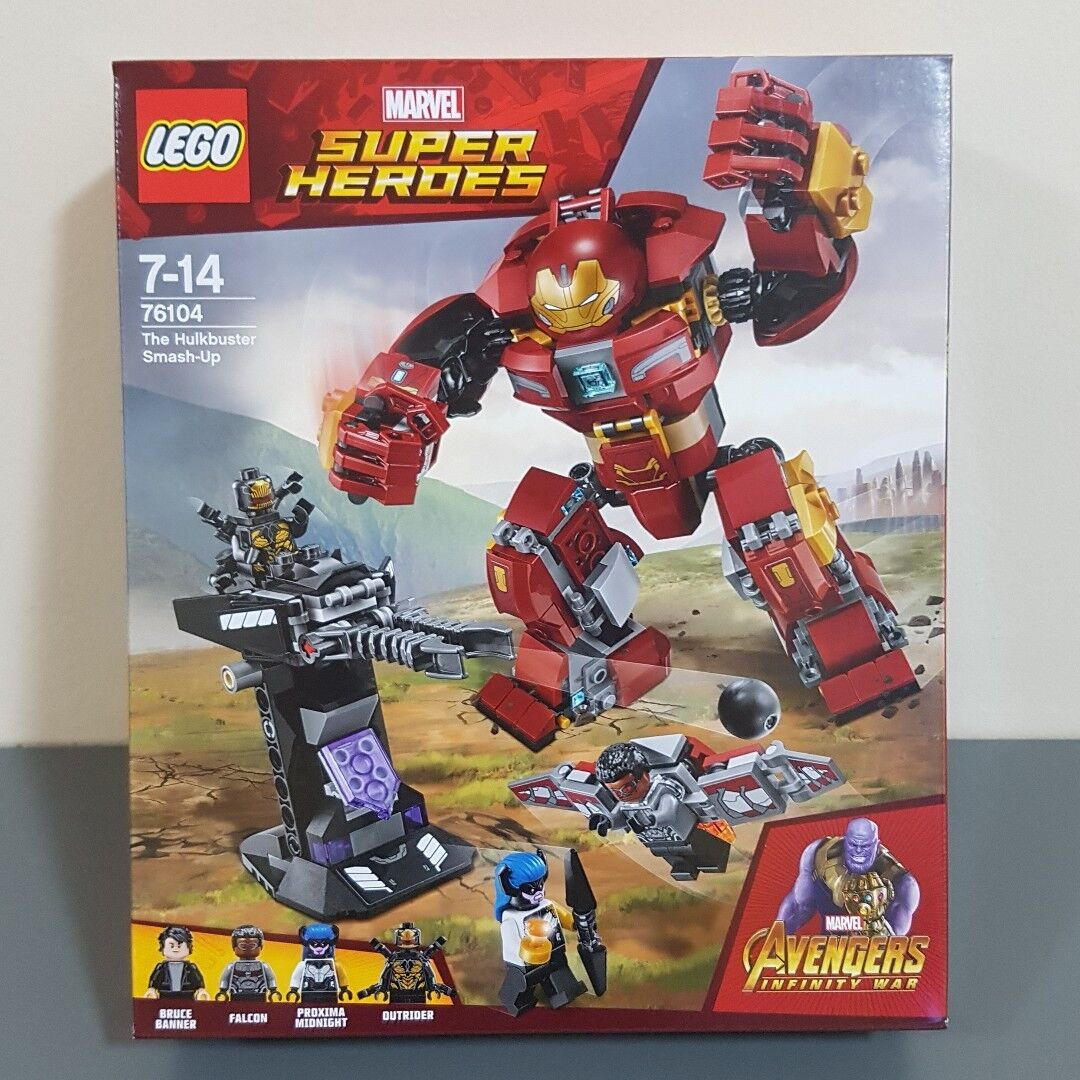 Felice shopping Lego Hulkautobuster Smash Up     76104 (Sealed) (Very RARE) nuovo with 4 x Minicifras  vendita outlet