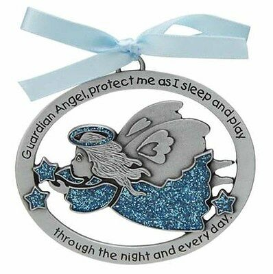 CM17B 2.5 Inches Blue Teddy Bear Crib Medal