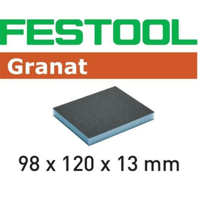 2-seitig Schleifpad 6x FESTOOL Schleifschwamm Granat 98 x 120 x 13mm P60-P220
