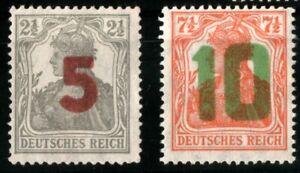 "1919 German  in POLAND ""Gniezno Provisional"" Mi.Nr. 135-136 (error Ovpt.) MNH"