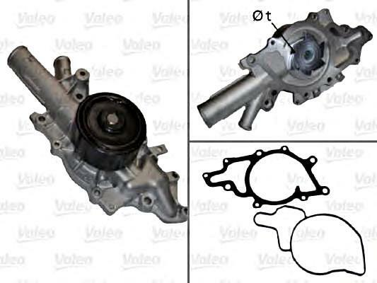 Water Pump VALEO Fits MERCEDES W210 W203 W202 S210 S203 2.2-3.0L 1997-2009