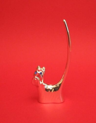Stylised Dog Silver plated Ring Holder Jewellery Mother Gift Pet Vet NEW