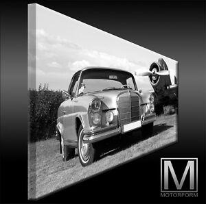 Mercedes 220SE-280SE W111 echte LEINWAND Bild Canvas ART Kunstdruck Leinwandbild