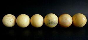 6-anciennes-boules-de-billard-Napoleon-Antique-balls-billiards-XIX
