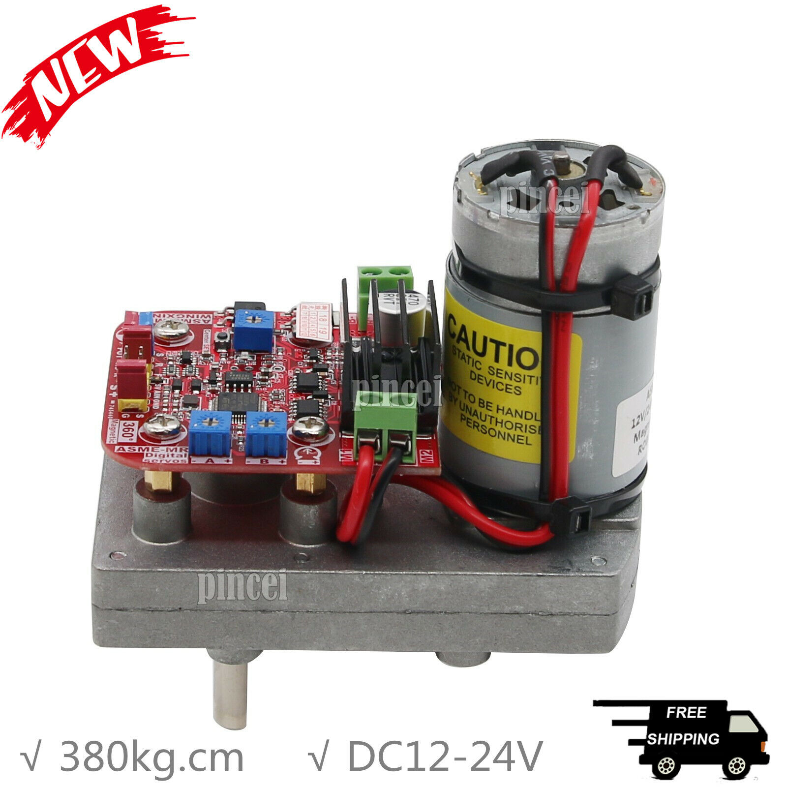 DC12-24V 380kg.cm  High Torque Servo 360 Degree Non-Contact Magnetictuttiy Encoded  Ultimo 2018