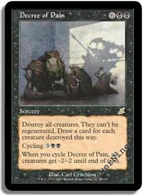 1 PLAYED Decree of Pain Black Scourge Mtg Magic Rare 1x x1