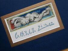 PABLO PICASSO PETIT NU COUCHÉ ORIGINAL SIGNED LITHOGRAPH MOURLOT 1963 COA