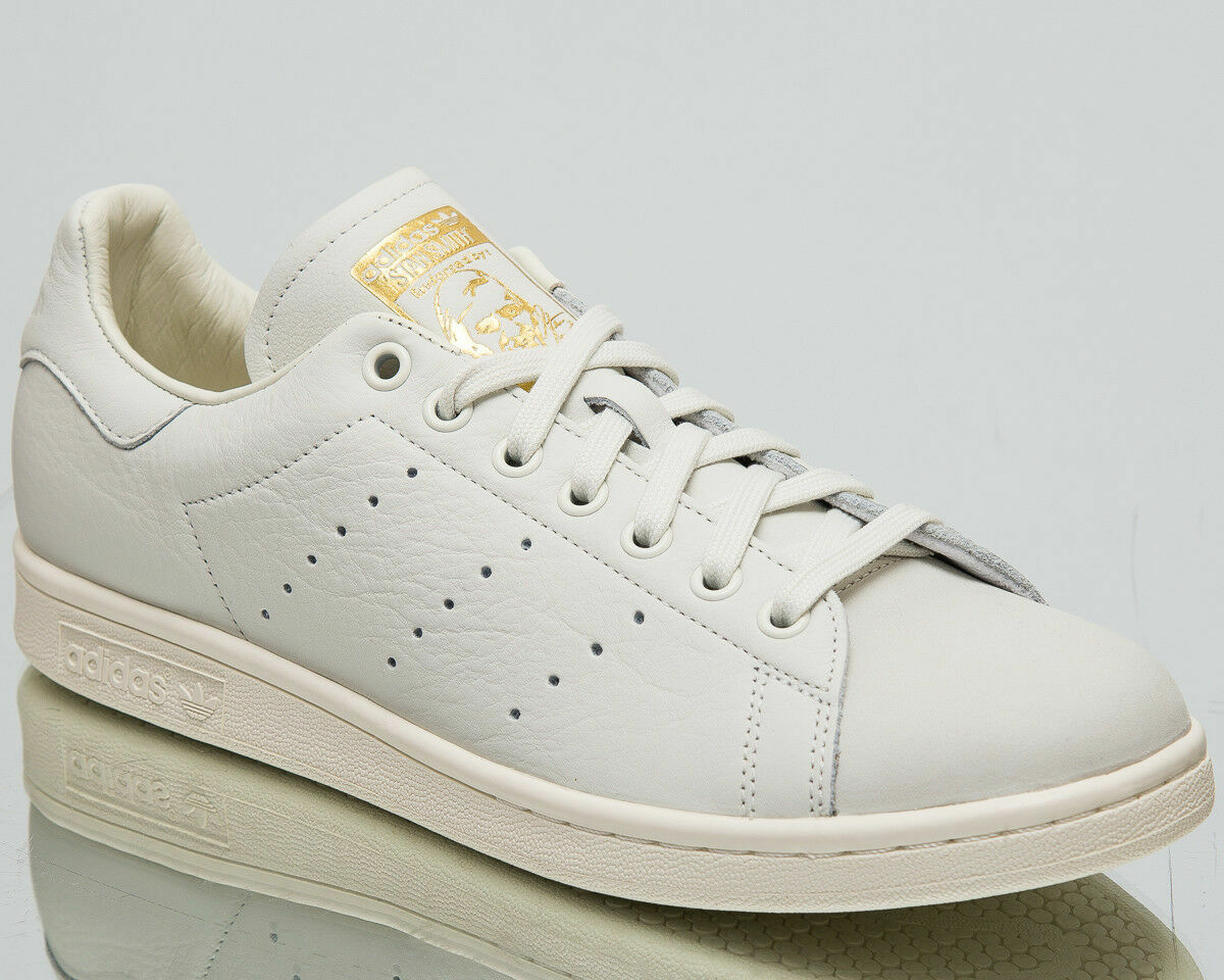 Adidas Originals Stan Smith Premium Men's New White gold Casual shoes B37900