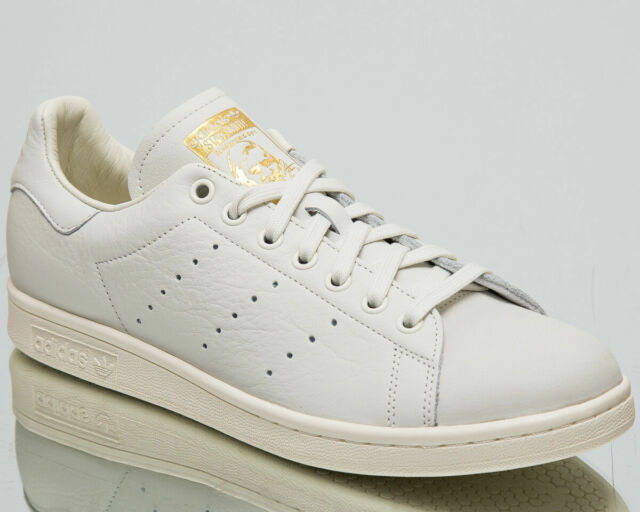 purchase cheap 9bc41 bb8f9 adidas Originals Stan Smith Premium Men's New White Gold Casual Shoes B37900