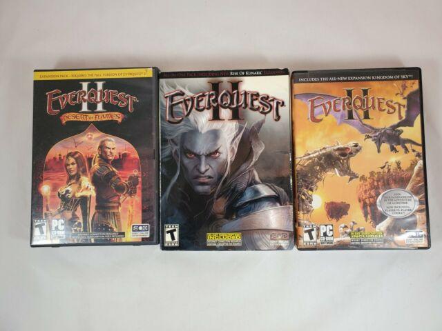 Everquest II Lot of 3 Games: Desert Flames Rise Kunark Kingdom Sky