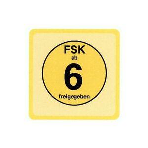FSK 6 LABELS 100 Stück - (Label) - STICKER - 3,46 x 3,46 cm für DVD und Blu-ray