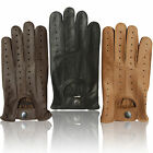 REAL SOFT LEATHER MEN'S UNLINED FASHION DRIVING GLOVES