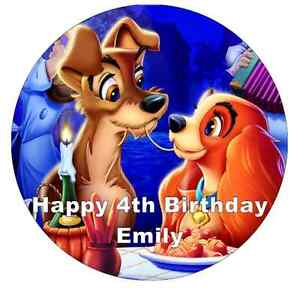 Disney Cake Topper Lady And The Tramp