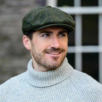 Quiet Man Mucros Kerry Cap Wool Tweed Irish Hat Green Col 27 .Made in Ireland.