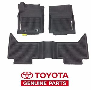 Details About 2016 2017 Toyota Tacoma Automatic Double Cab All Weather Floor Mats