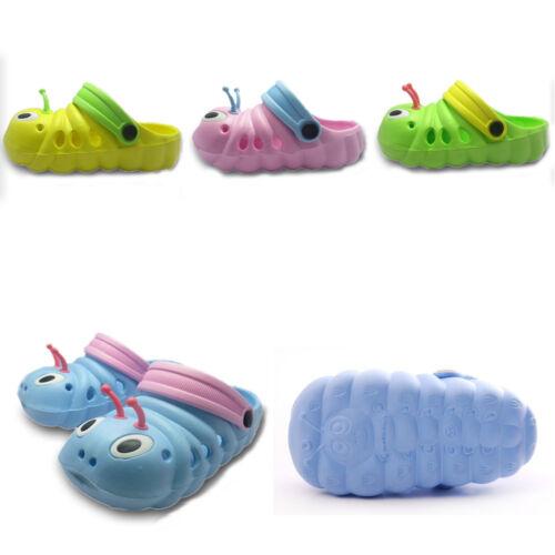 Kids Girls Boys Casual Outdoor Sandals Rubber Caterpillar Beach Slip Flip Shoes