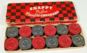 Vintage Snappy DeLuxe Plaxylite Checkers No. 35