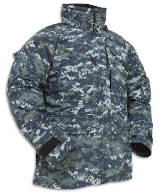 Us Navy USN nwu Goretex marine Parka Army azul berry digital chaqueta small x long