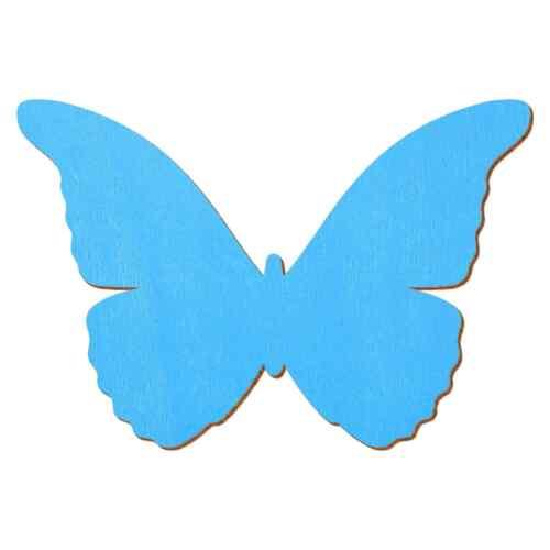 Bleu Clair Bois Papillon Déco sont rangés Tailles Sélection