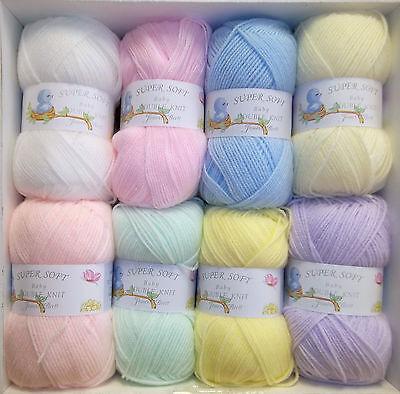 James C Brett DK Baby Wool 100g Super Soft 100% Acrylic Knitting Crochet Yarn