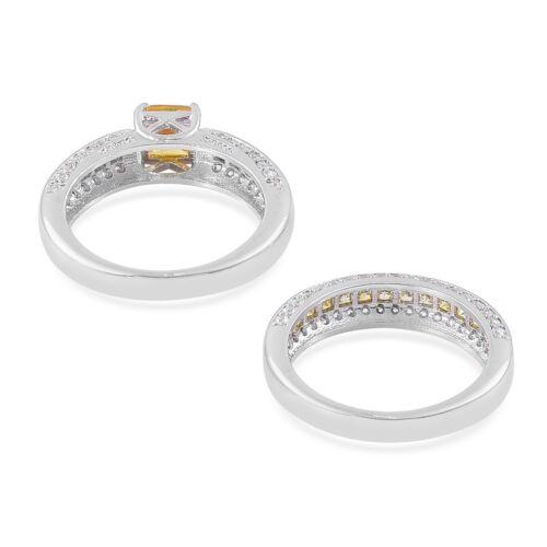 CANARY WEDDING RING SET 7 #canaryweddingringsets #size7rings #size7ring #size7