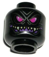 LEGO NINJAGO OVERLORD MINIFIGURE HEAD Black Halloween Monster Face 70728
