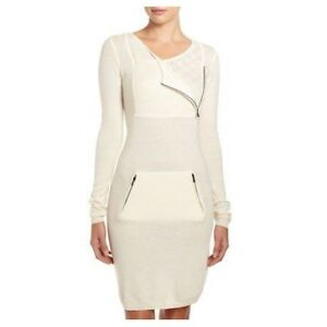 31604fa595d  248 NWT Bcbg Max Azria Womens Dress Cailey Lambswool Crochet Zipper ...