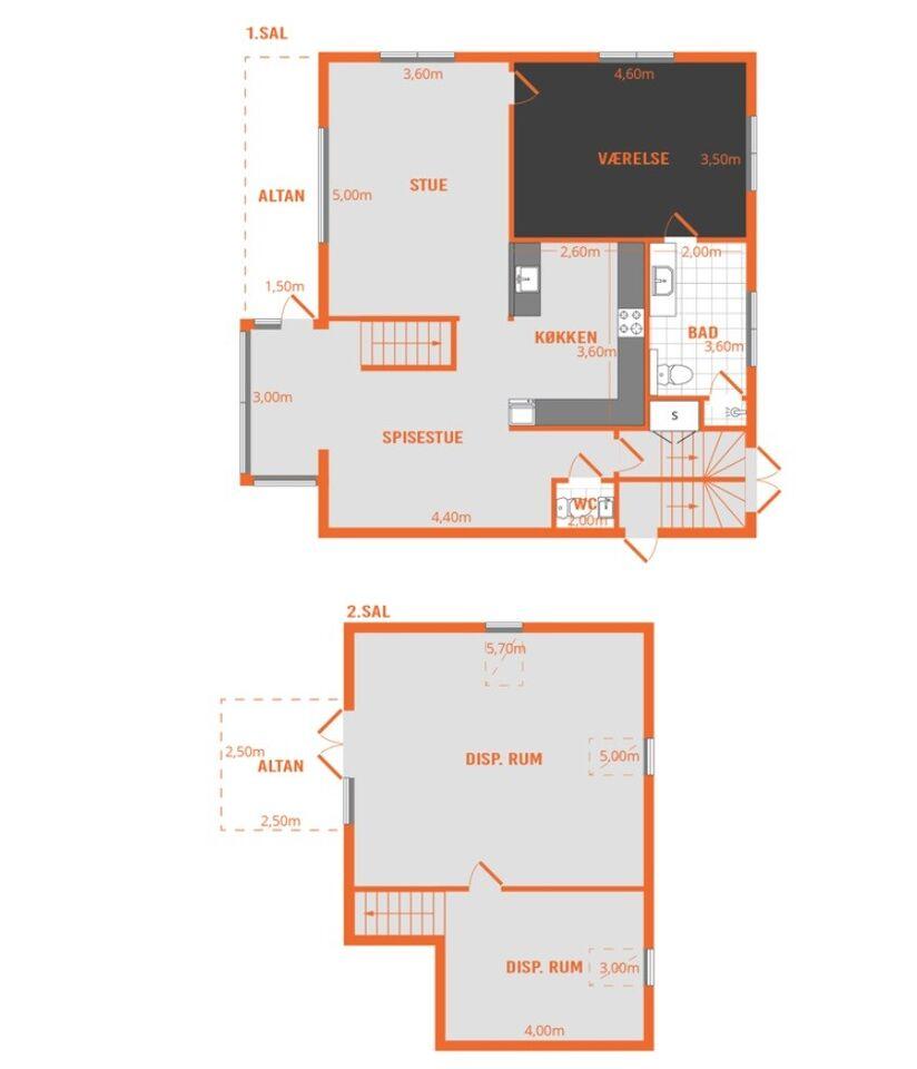 6000 3 vær. lejlighed, 140 m2, Strandvejen 28 1