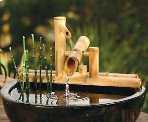 Bamboo accents zen garden water fountain spout 75 inch shishi image is loading bamboo accents zen garden water fountain spout 7 workwithnaturefo