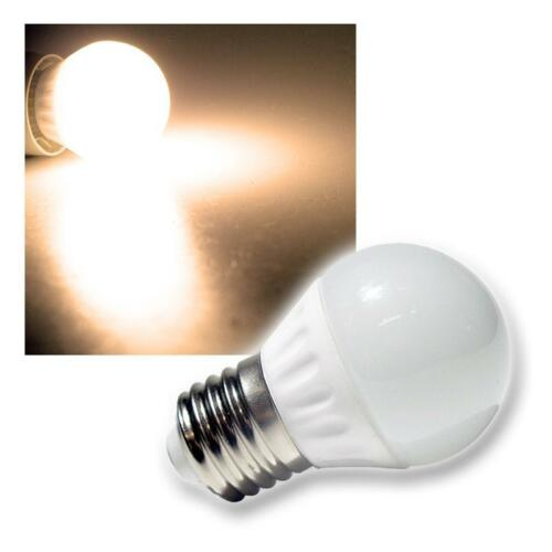 LED-Leuchtmittel Tropfenlampe SMD E27 warmweiß 230V Birne E-27 LED-Glühbirne