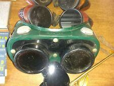 New Listingvintage Welders Goggles Lenses Glass Safety Glasses Bakelitebiker Steampunk
