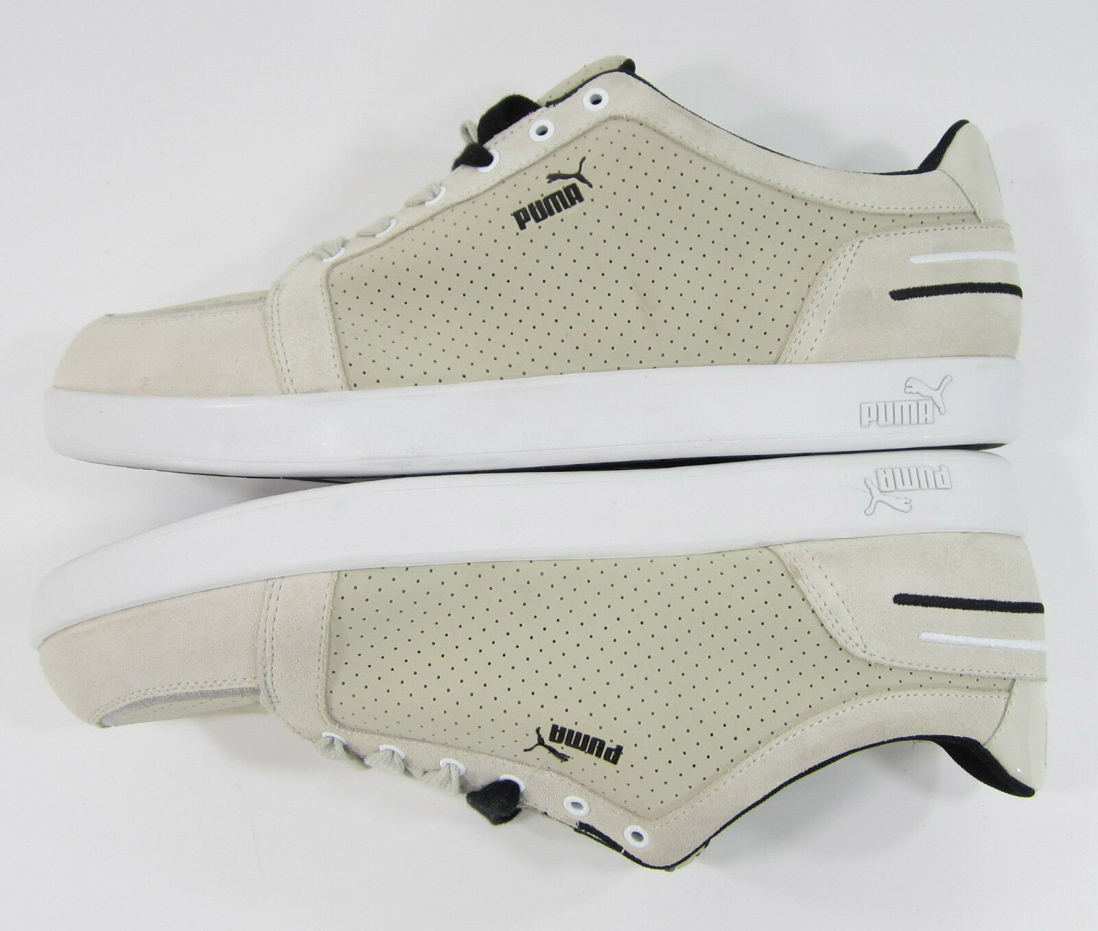 f42403b8b070 ... Puma Chaussures Trip Double Lo Suede Perforated Beige Tan Sneakers  Sneakers Sneakers c6e488 ...