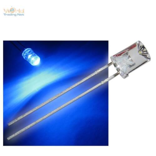 500 LEDs 5mm konkav blau mit Zubehör blaue concave LED
