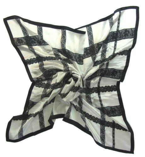 Damen Tuch Tücher Quadratisch 4-eckig 100/% Seide Satin 90X90 cm TC-S-MKL-1604G