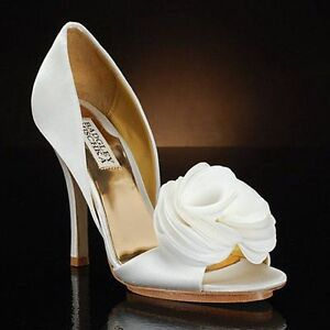 2b24b2be240a NIB Badgley Mischka RANDALL bridal satin D orsey heels sandals open ...