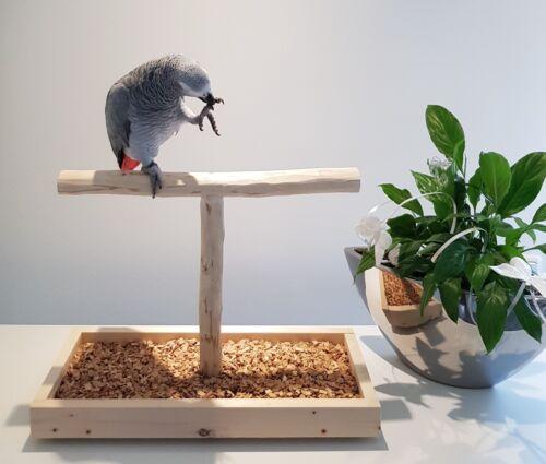 TISCHFREISITZ-Freisitz-fuer-FENSTERBANK-Papageienfreisitz-Papageienspielzeug